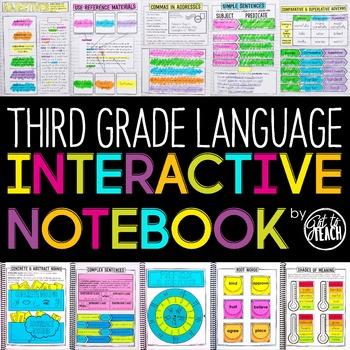 3rd Grade Language Interactive Notebook | Grammar Interact