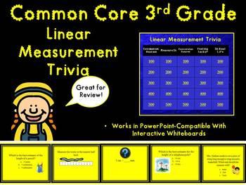 3rd Grade Linear Measurement Trivia Game