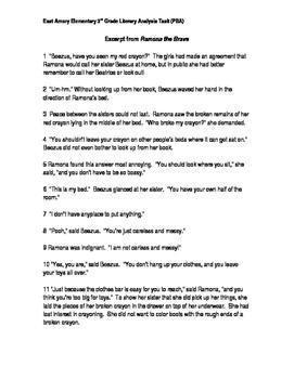 3rd Grade Literary Analysis PARCC Practice
