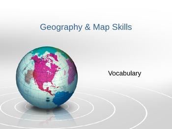 3rd Grade Map Skills Vocabulary ppt