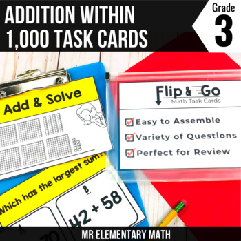 Addition within 1000 - 3rd Grade Math Flip and Go Cards