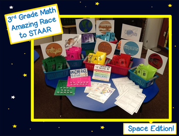 3rd Grade Math Amazing Race to STAAR Space Edition Based o