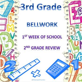 3rd Grade Math Bellwork Week 1
