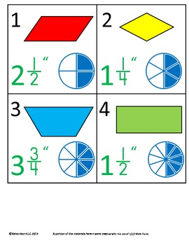 3rd Grade Math Calendar - Geometry, Equivalent Fractions,