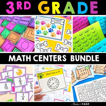 3rd Grade Math Centers, Games and Activities HUGE Bundle