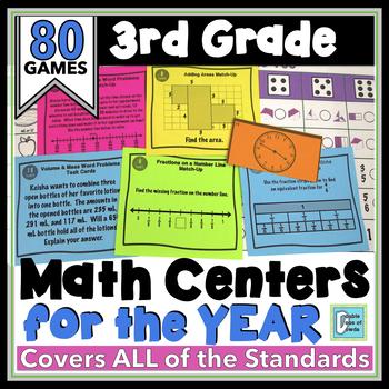 Math Centers Bundle - 3rd Grade