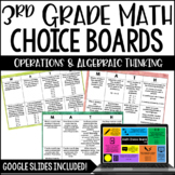 3rd Grade Math Choice Boards {Operations and Algebraic Thinking}