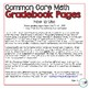 3rd Grade Math Common Core Gradebook Pages