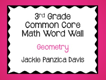 3rd Grade Math Common Core Word Wall Cards (Geometry)
