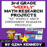 3rd Grade Math Enrichment Weekly Research Projects!
