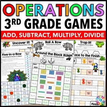 3rd Grade Math Centers: 3rd Grade Math Games