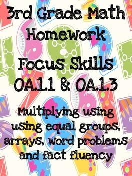 3rd Grade Math Homework OA.1.1 & OA.1.3