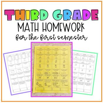 3rd Grade Math Homework for the ENTIRE SEMESTER!