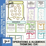 3rd Grade Math Interactive Notebook Operations & Algebraic