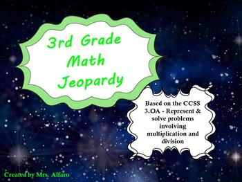 3rd Grade Math Jeopardy ~ CCSS 3.OA Promethean Outer Space