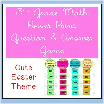 3rd Grade Math Jeopardy ~ CCSS PowerPoint Spring / Easter