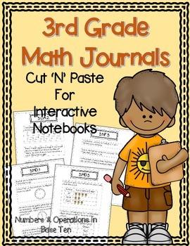 3rd Grade Math Journals {NBT} for Interactive Notebooks {C