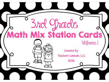 Math Mix Math Review Station Cards (3rd Grade Vol.1)