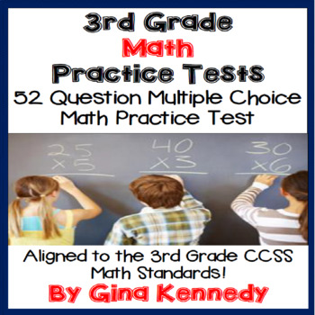 3rd Grade Math Practice Test, Print and Go!