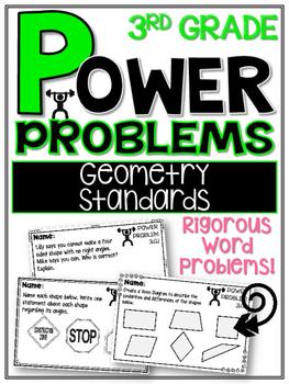 3rd Grade Math Rigorous Word Problems Geometry Standards 3