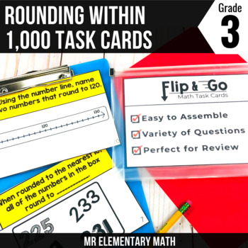 3rd Grade Math Rounding - Flip and Go Cards