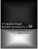 3rd Grade Math STAAR Ready Review Quizzes #1-4