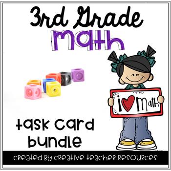 3rd Grade Math Task Cards Growing Bundle
