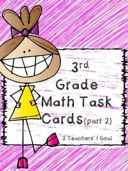 3rd Grade Math Review Task Cards (Part 2)