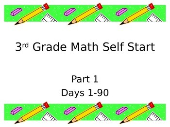 3rd Grade Common Core Math Self Start