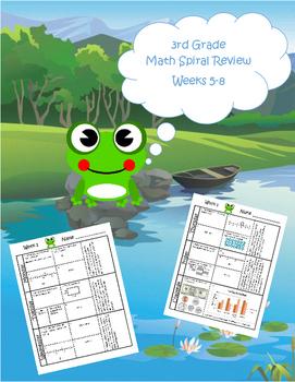 3rd Grade Math Spiral Review (TEKS aligned) Weeks 5-8