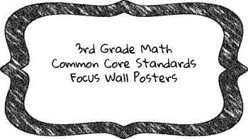 3rd Grade Math Standards on Black Colored Frame