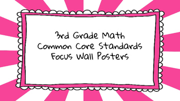 3rd Grade Math Standards on Pink Sunburst Frame