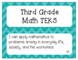"""3rd Grade Math TEKS """"I Can"""" Statement Posters"""