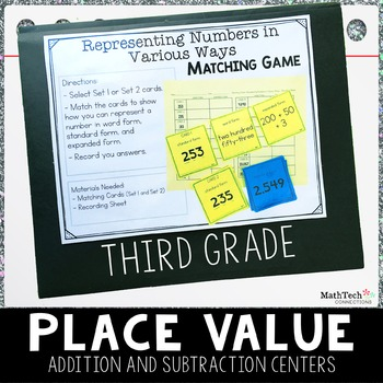 Third Grade Math Centers - Place Value, Rounding, and more