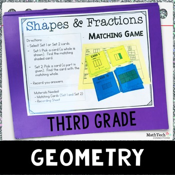 Third Grade Math Centers - Geometry - Set 5 - 3.G