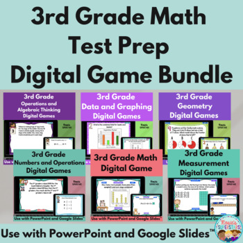 3rd Grade Math Test Prep PowerPoint Games: 11 Games & 110