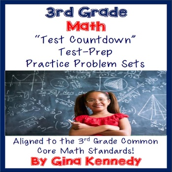 3rd Grade Math Test-Prep, 16 Sets of Problems Covering All