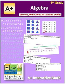 "3rd Grade Math Unit 11 ""Algebra"" - Lessons, Worksheets, So"