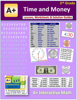 """3rd Grade Math Unit 9 """"Time and Money"""" - Lessons, Workshee"""