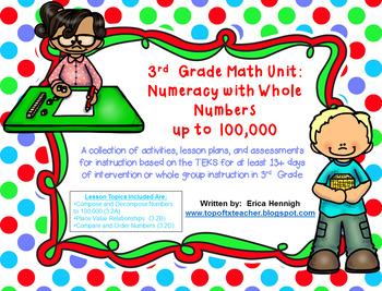 3rd Grade Math Unit: Numeracy & Place Value TEKS Instructi