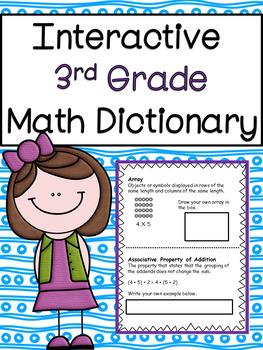 3rd Grade Math Vocabulary Interactive Dictionary