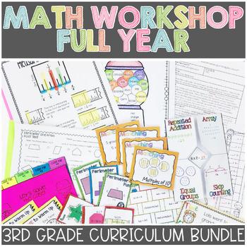 3rd Grade Math Workshop ENTIRE YEAR BUNDLE