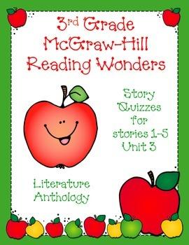 3rd Grade McGraw-Hill Reading Wonders Unit 3 Vocabulary &