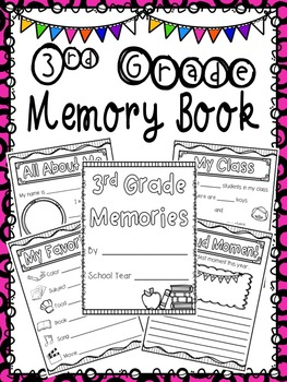 3rd Grade Memory Book - End of Year