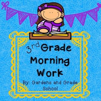3rd Grade Morning Work Freebie