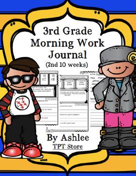 3rd Grade Morning Work Journal Set 2 [second 10 weeks]