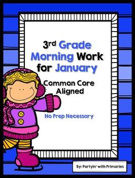 3rd Grade Morning Work for January Common Core Aligned
