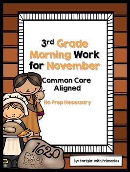 3rd Grade Morning Work for November Common Core Aligned