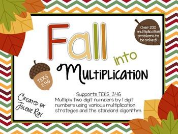 3rd Grade Multiplication (2 digit x 1 digit) TEKS 3.4G