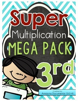 3rd Grade Multiplication Activity Pack